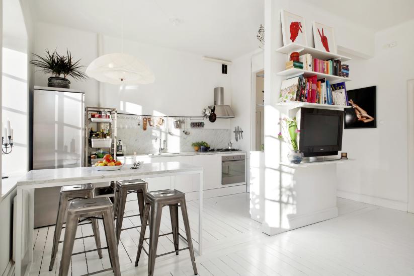 Inrichting Kleine Keuken: Hoe kan je een kleine kamer slim ...