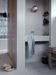 Leef! tadelakt badkamer