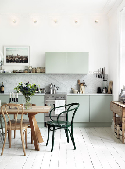 Mint-groene-keuken