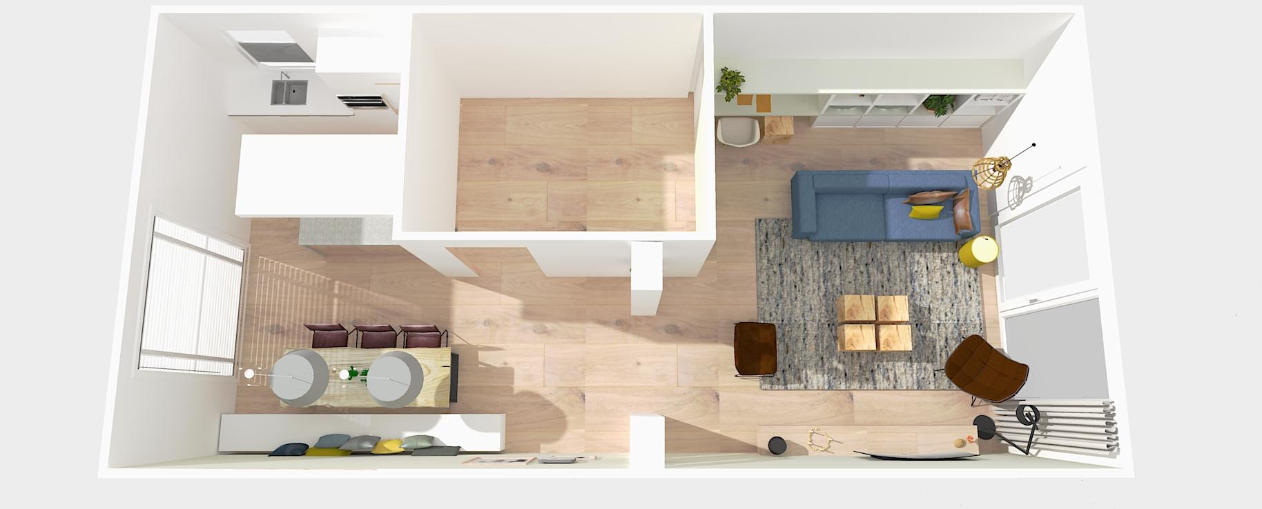 Woonkamer nieuwbouwwoning drachten leef interieuradvies for 3d programma interieur