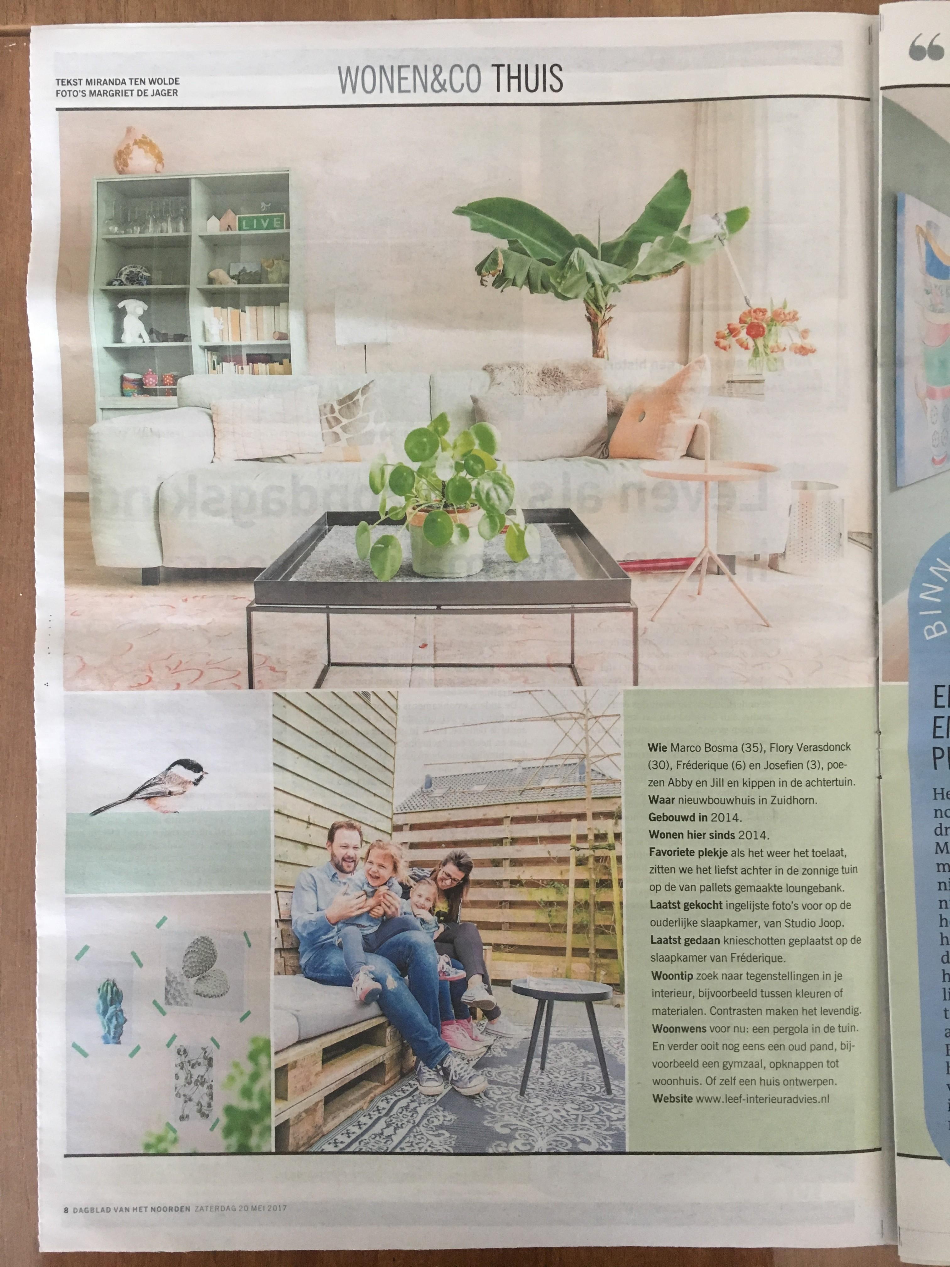 Wonen & Co (pagina 1) Dagblad van het Noorden / Leeuwarder Courant , zaterdag 20 mei 2017