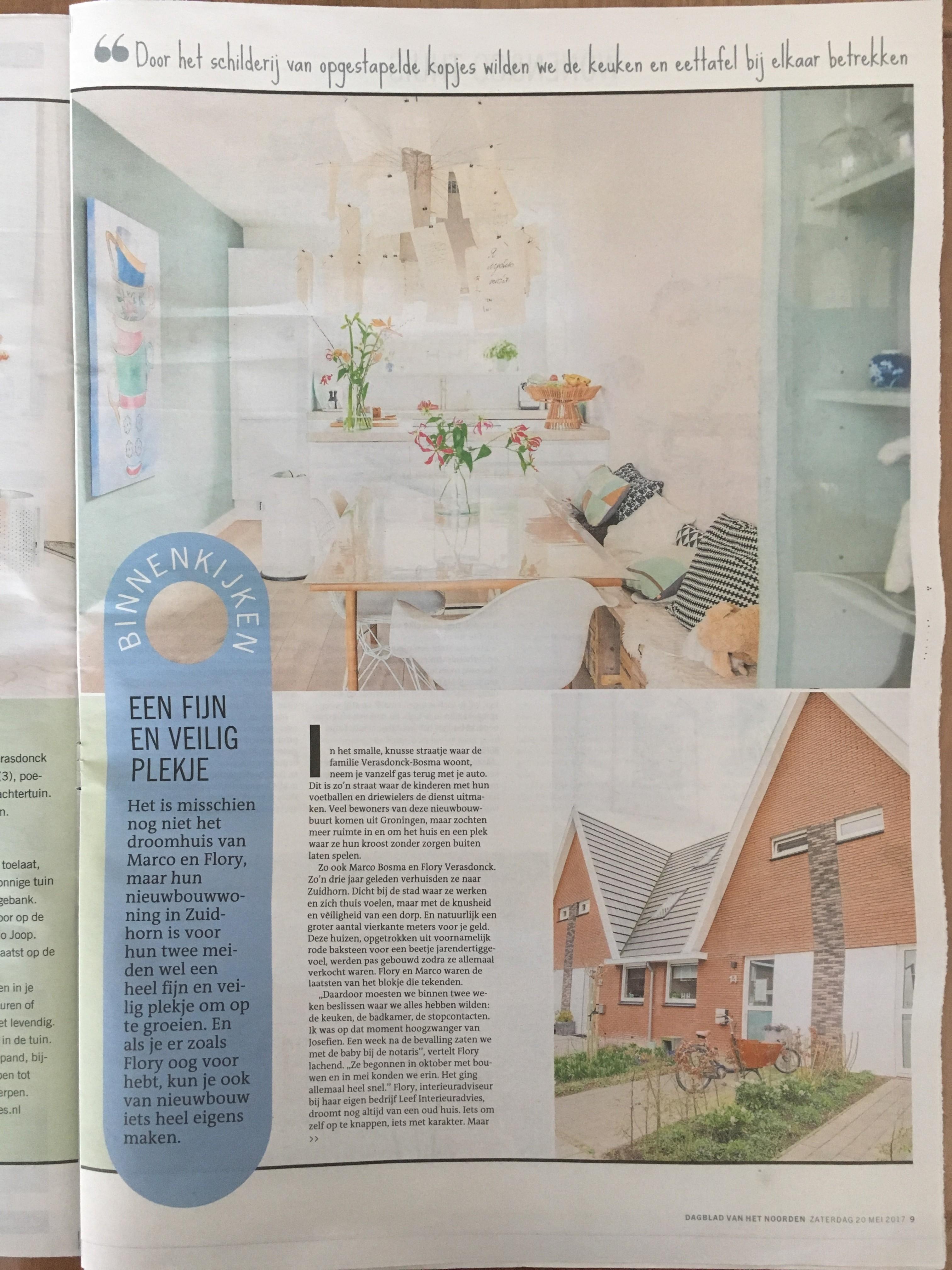 Wonen & Co (pagina 2), Dagblad van het Noorden / Leeuwarder Courant, zaterdag 20 mei 2017