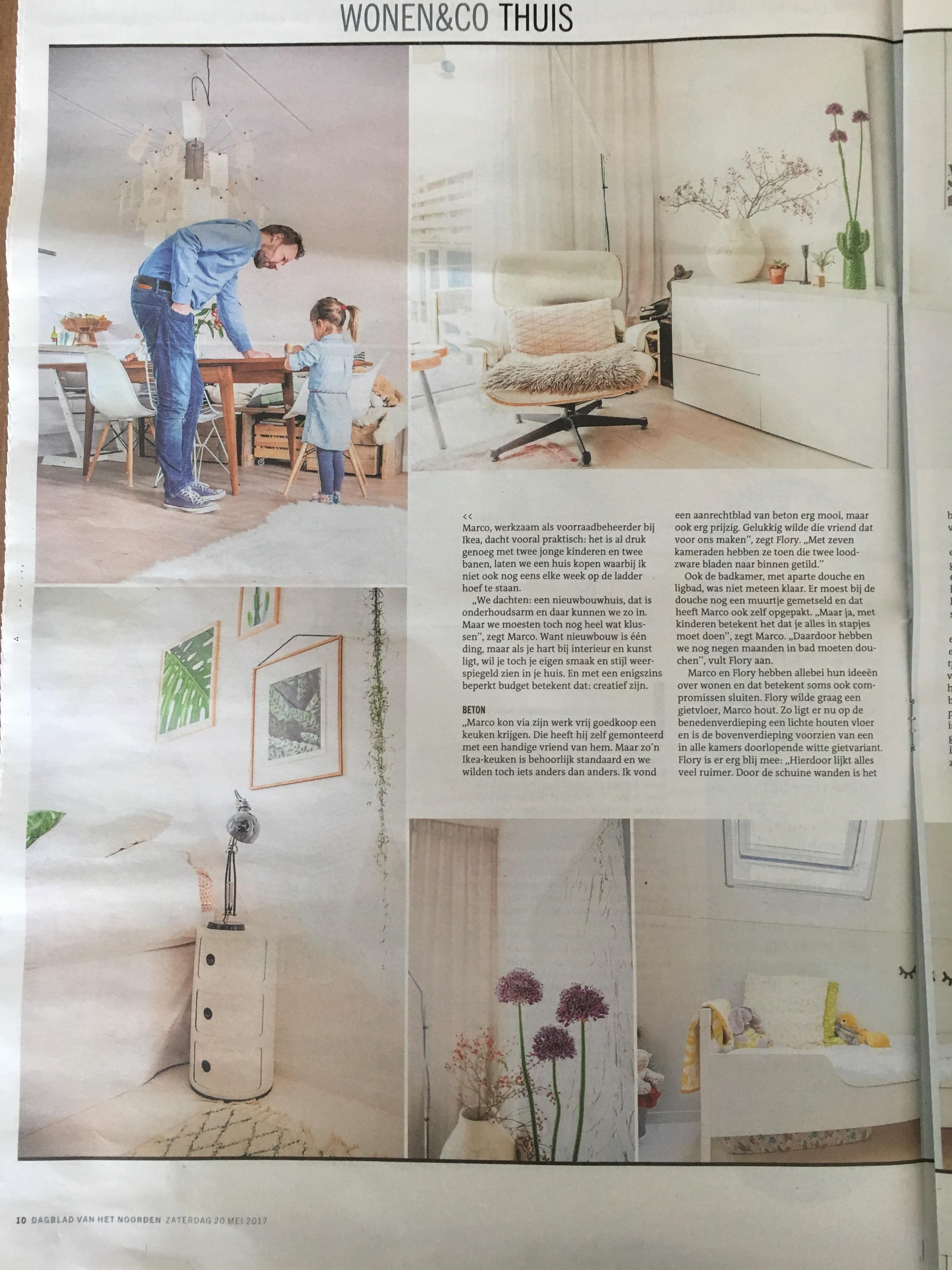 Wonen & Co (pagina 3), Dagblad van het Noorden / Leeuwarder Courant, zaterdag 20 mei 2017