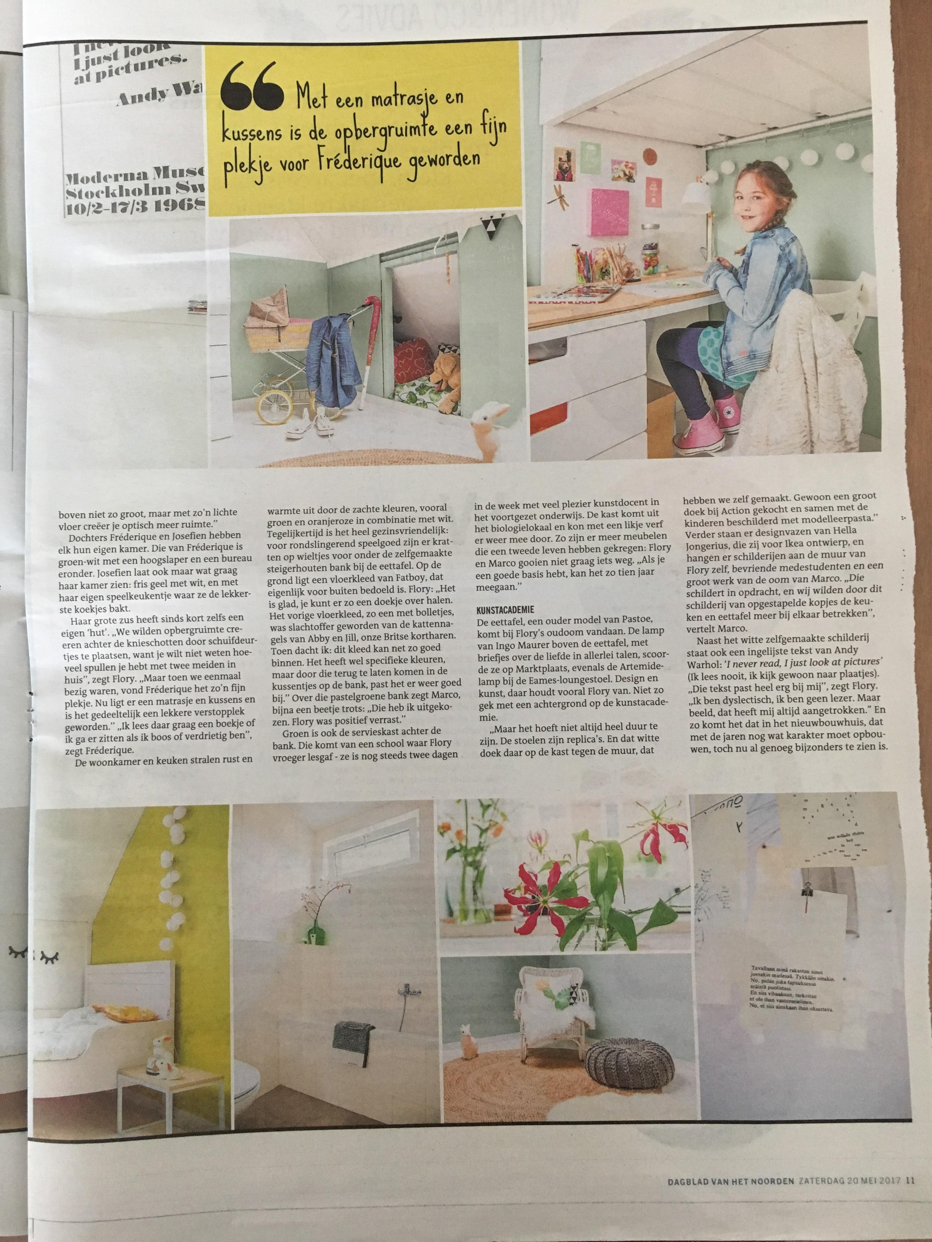 Wonen & Co (pagina 4), Dagblad van het Noorden / Leeuwarder Courant, zaterdag 20 mei 2017